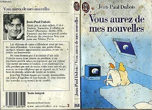 Amazon Fr Vous Aurez De Mes Nouvelles Jean Paul