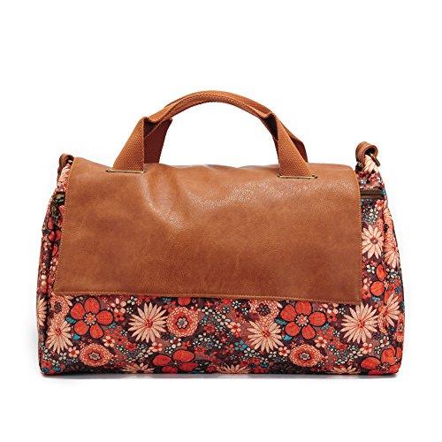 Women Top Handle Handbags Satchel Purse Tote Bag Shoulder Bag Floral by Ms.Camellia