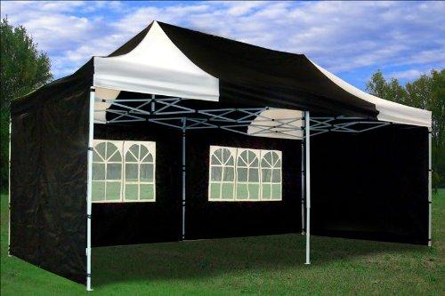 10 X20 Pop Up 6 Walls Canopy Party Tent Gazebo Ez Black