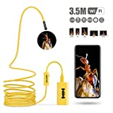 Clearance Sale ---Cobiz 2.0 Megapixel Wireless Endoscope(1600 x 1200P) Inspection HD Snake Camera with 8 Leds, IP68 Waterproof Borescope for Android, IPhone, PC, Tablet and Mac (Yellow)