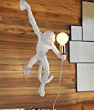 LINA-Industrial Retro Vintage style Farmhouse Industry Steam Punk Water Pipe Wall Sconce wall light lamp Monkey resin Wall lamp (560150130mm)