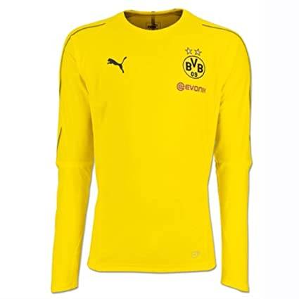 df23d05af71 Image Unavailable. Image not available for. Color  PUMA 2018-2019 Borussia  Dortmund Long Sleeve Training Football Soccer T-Shirt Jersey (