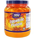 NOW Sports Eggwhite Protein Powder, 1.2-Pound
