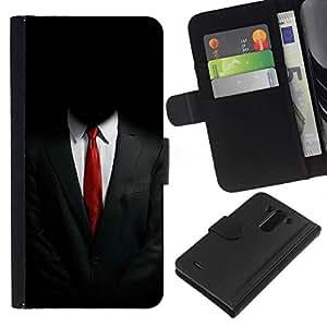NEECELL GIFT forCITY // Billetera de cuero Caso Cubierta de protección Carcasa / Leather Wallet Case for LG G3 // ANÓNIMO SUIT