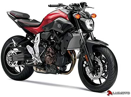 Front and Rear by Sixty61 Luimoto Seat Covers for Yamaha FZ07 MT07 2014-2017 with Gel Pad Black and Red