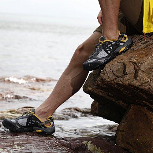 Clorts Donne E Uomini Asciugatura Rapida Sport Escursionismo Scarponcino Anfibio Atletico Sneaker Wt0524 Grigio
