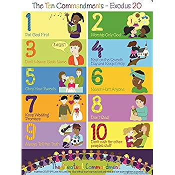 photo about 10 Commandments for Kids Printable identified as The 10 Commandments Poster for Little ones (1, 17\