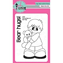 "Pink & Main Clear Stamps 3""X4""-Bear Hugs"