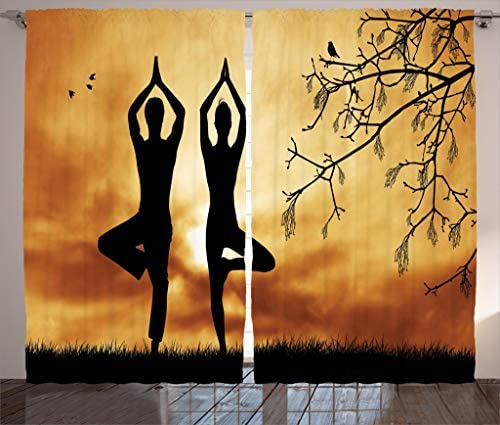 Ambesonne Yoga Curtain