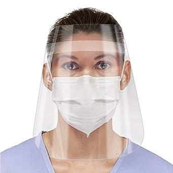 Alittle 10 Pcs Visera Pl/ástica de Protecci/ón Facial Pantalla Protectora para la Cara Transparente Gafas de Seguridad Anti Escupir Color Di/áfano