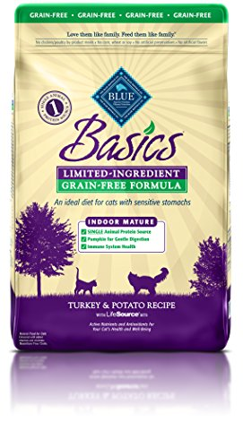 BLUE Basics Limited Ingredient Diet Mature Indoor Grain Free Turkey & Potato  Dry Cat Food 11-lb (Basic Buffalo)