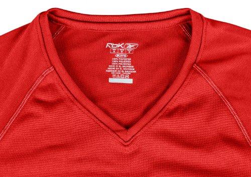 Reebok Speedwick para mujer Athletic camiseta de bajera ajustable Rojo