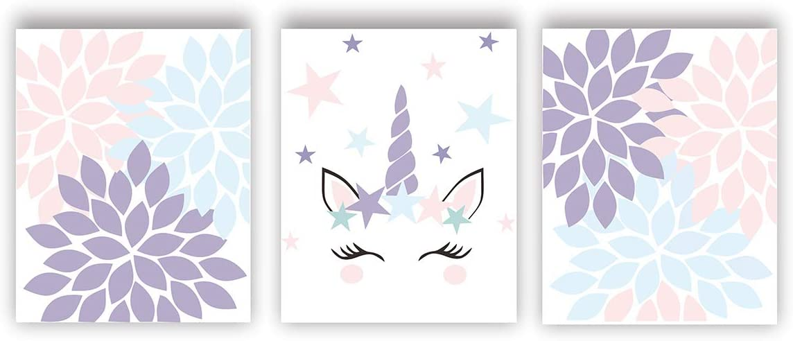 Amazon Com Unicorn Poster Watercolor Printing Unicorn Wall Art Unicorn Nursery Decor Canvas Unicorn Birthday Gift Set Of 3 Unicorn Theme Unicorn Bedroom Decor Unframed Posters Prints