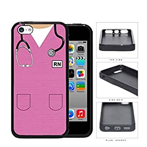 RN Nursing Scrubs (Pink) iPhone 5c Rubber Silicone TPU Cell Phone Case