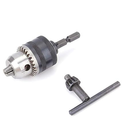 1-10mm Drill Chuck Driver Converter 3//8/'/' 24UNF and 1//4/'/' Hex Shank Key Adaptor
