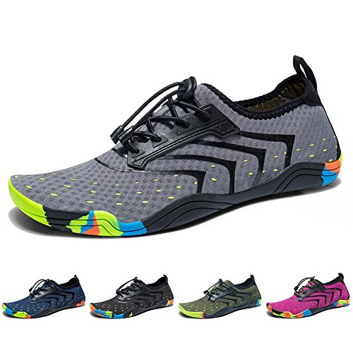 Madaleno Swim Quick Water Garden Diving Driving Beach Sports Walking Surfing Shoes Mens Grey Yoga Boating Aqua Lightweight Shoes Dry for Womens rwrA7q4X