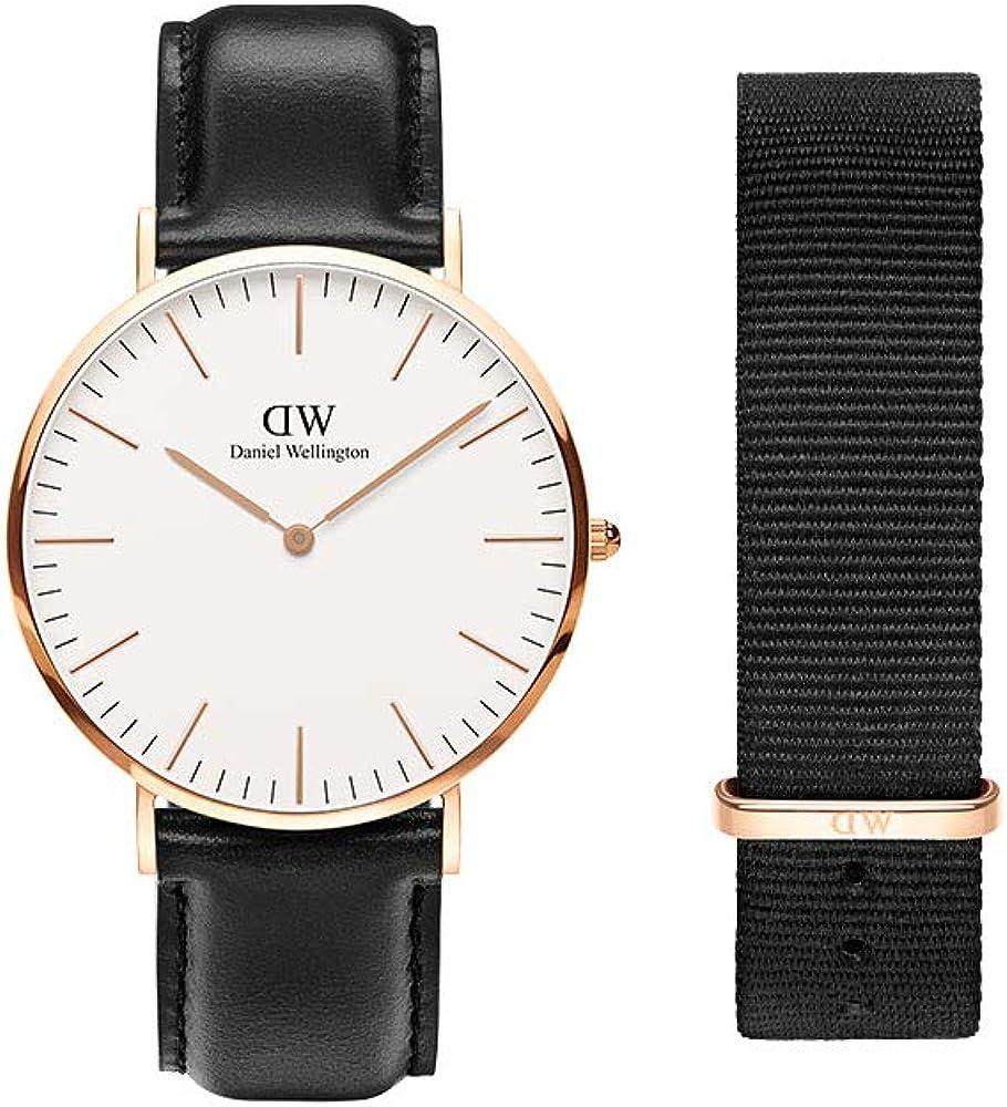 Daniel Wellington Gift Set, Classic Sheffield 40mm Watch with Cornwall Strap