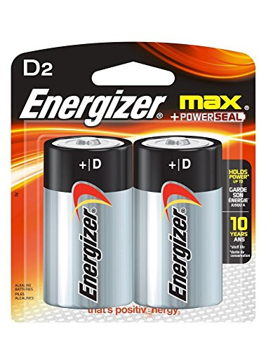 Energizer 2634x2 D2 Alkaline General Purpose Battery (Pack of 2)