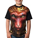 Monkey King Kids Girl's 3D Printed Short Sleeve Funny Crew Neck Top Small