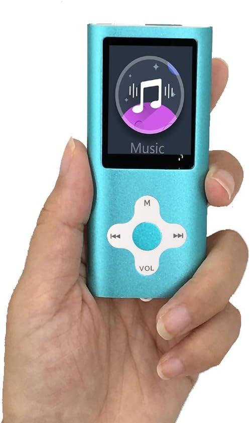 lettore musicale MP3 con scheda di memoria SD da 32 GB lettore MP3 // MP4 schermo LCD digitale da 1,82 Hotechs registrazione vocale mini porta USB con radio FM sottile