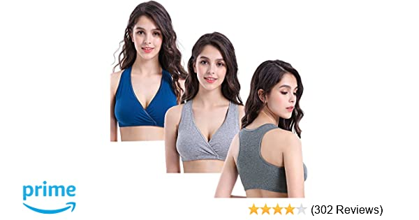 bc0c1e1796d52 CAKYE 3PACK Racerback Maternity Nursing Bra for Sleep and Breastfeeding at  Amazon Women s Clothing store