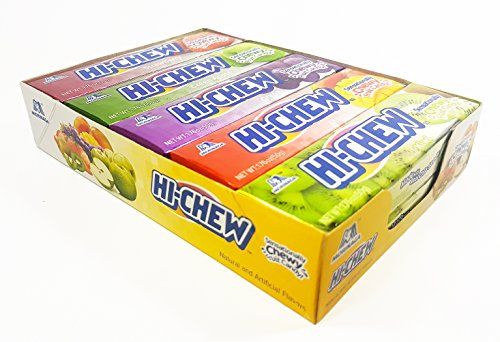 Hi-Chew Sticks Chewy Fruit Candies Variety Pack (Strawberry, Green Apple, Grape, Mango, Kiwi) 10-Pack