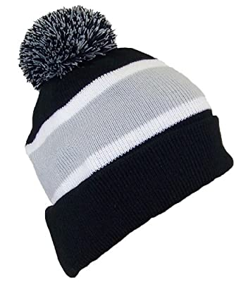 Best Winter Hats Quality Cuffed Hat with Large Pom Pom (One Size)(Fits Large Heads)