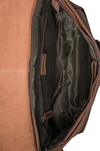 Fox el de búfalo Vintage Estilo Oxford auténtico Bandolera Fox LEABAGS Bolso en Cuero wT8qH7
