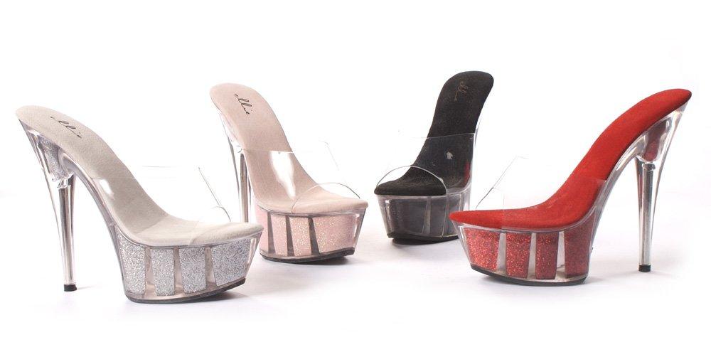 Ellie Shoes E-609-Glitter 6 Pointed Stiletto Sandal B001PM9EKO 10 B(M) US|Red