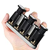 MEIDEAL Finger Exerciser individually adjustabletension pressing pistons for musicians,guitar&violin&piano players ,bodybuilding medical rehabilitation (black)