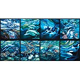 North American Wildlife Panel Sealife Ocean Fabric By The Yard