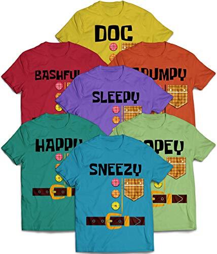 Seven Dwarfs Costume Doc Bashful Sleepy Grumpy Happy Sneezy Dopey Halloween Family Matching Customized Handmade T-shirt Hoodie/Sweater / Long Sleeve/Tank Top/Premium T-shirt -