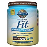 Garden of Life Organic Meal Replacement - Raw Organic Fit Vegan Nutritional Shake for Weight Loss, Chocolate, 16.3oz (1lb/461g) Powder