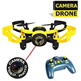 LUXON Mini Drone Quadcopter with Camera RC Outdoor or Indoor Drones for Kids (Boys and Girls) or Drone Beginner (Yellow)