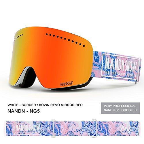 SE7VEN Lunettes De Sphercial Large,Ultra Wide-ange Lentille Sphérique Double Couche Snowboard Goggle Unisexe Anti-buée Panoramique Otg F