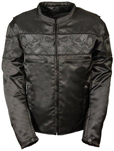 Milwaukee Performance Men's Reflective Skulls Textile Jacket (Black, XX-Large), 1 Pack (Skull Textile Jacket)