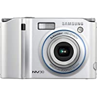 Samsung NV30 8.1MP Digital Camera with 3x Optical Image Stabilization Zoom (Silver)