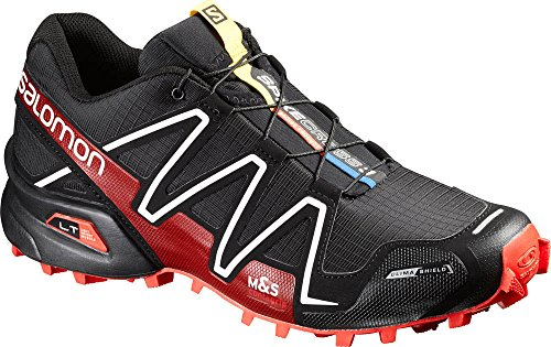 Salomon L38315400, Zapatillas de Trail Running Unisex Adulto Negro (Black /     Radiant Red /     White)