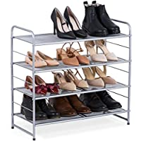 Bextsware Stackable Metal Mesh Utility Shoe Rack