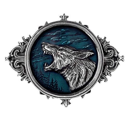 Wulven Belt Buckle by Alchemy Gothic (Metal-Wear) Pewter Celtic Belt Buckle