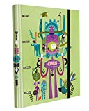 Edima School Kits–4-Ring Binder with Elastic Bands + 120Sheets of Paper, Multi-Coloured, Nature Design