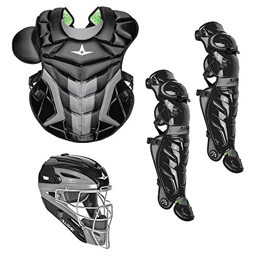 All Star System7 Axis Adult Pro Catcher's Kit - Single Knee Catchers Leg Guards