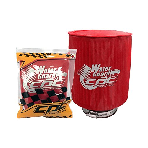 Water Guard Cold Air Intake Pre-Filter Cone Filter Cover for Chevy Large Red CPT-WG-L-R