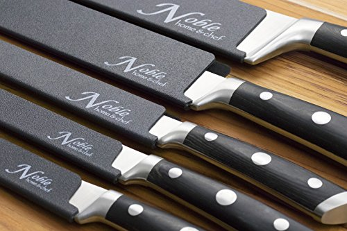 8-Piece Universal Knife Edge Guards are More Durable, BPA-Free, Gentle on Your Blades, and Long-Lasting. Noble Home & Chef Knife Covers Are Non-Toxic and Abrasion Resistant! (Knives Not Included) by Noble Home & Chef (Image #6)