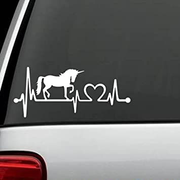 Funny Unicorn Quote Die Cut Decal Vinyl Sticker For Cars BORN TO BE A UNICORN