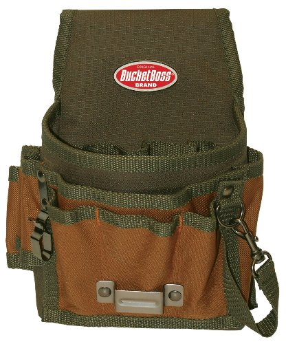 Bucket Boss 54140 Tool Pouch with Flap (Belt Tool Bag)
