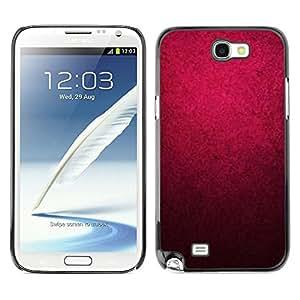 Caucho caso de Shell duro de la cubierta de accesorios de protección BY RAYDREAMMM - Samsung Galaxy Note 2 N7100 - Black Color Wallpaper