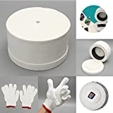 Microwave Kiln with 1 Pair White Cotton Gloves & 10pcs Backing Papers Set for DIY Glass Jewelry