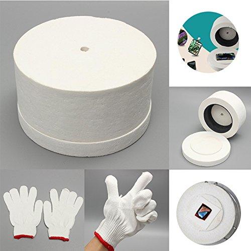 Kiln de microondas con 1 par de guantes de algodón blanco y ...