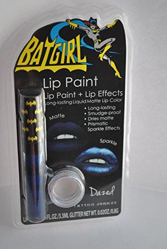 Tattoo Junkee Batgirl Lip Paint + Lip Effects - (Batgirl Makeup)